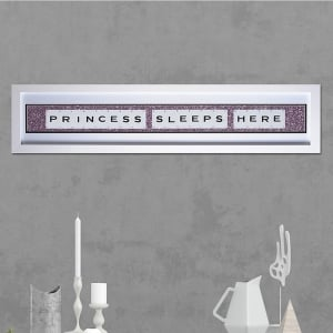 "Hand made ""PRINCESS SLEEPS HERE"" Quote with Vintage Playing Cards 