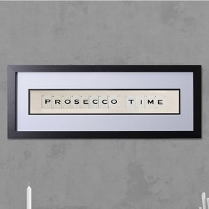 "Hand made ""PROSECCO TIME"" Quote with Vintage Playing Cards 