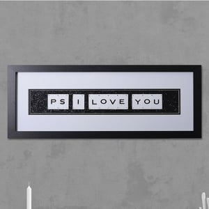 "Hand made ""PS I LOVE YOU"" Quote with Vintage Playing Cards 