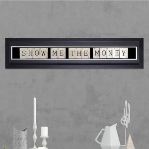 "Hand made ""SHOW ME THE MONEY"" Quote with Vintage Playing Cards 