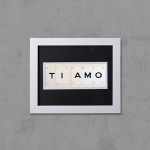 "Hand made ""TI AMO"" Quote with Vintage Playing Cards 