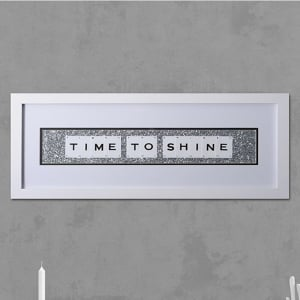 "Hand made ""TIME TO SHINE"" Quote with Vintage Playing Cards 