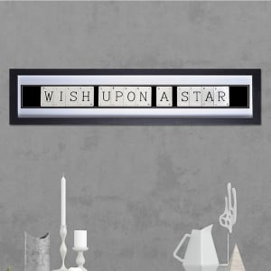 "Hand made ""WISH UPON A STAR"" Quote with Vintage Playing Cards 