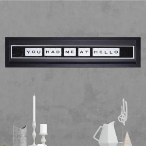 "Hand made ""YOU HAD ME AT HELLO"" Quote with Vintage Playing Cards 