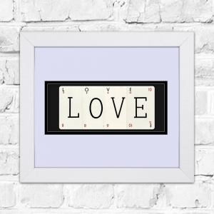 LOVE Framed Playing Cards