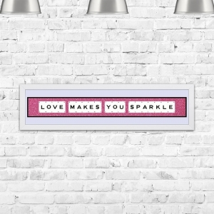 Love Makes You Sparkle Framed Playing Cards