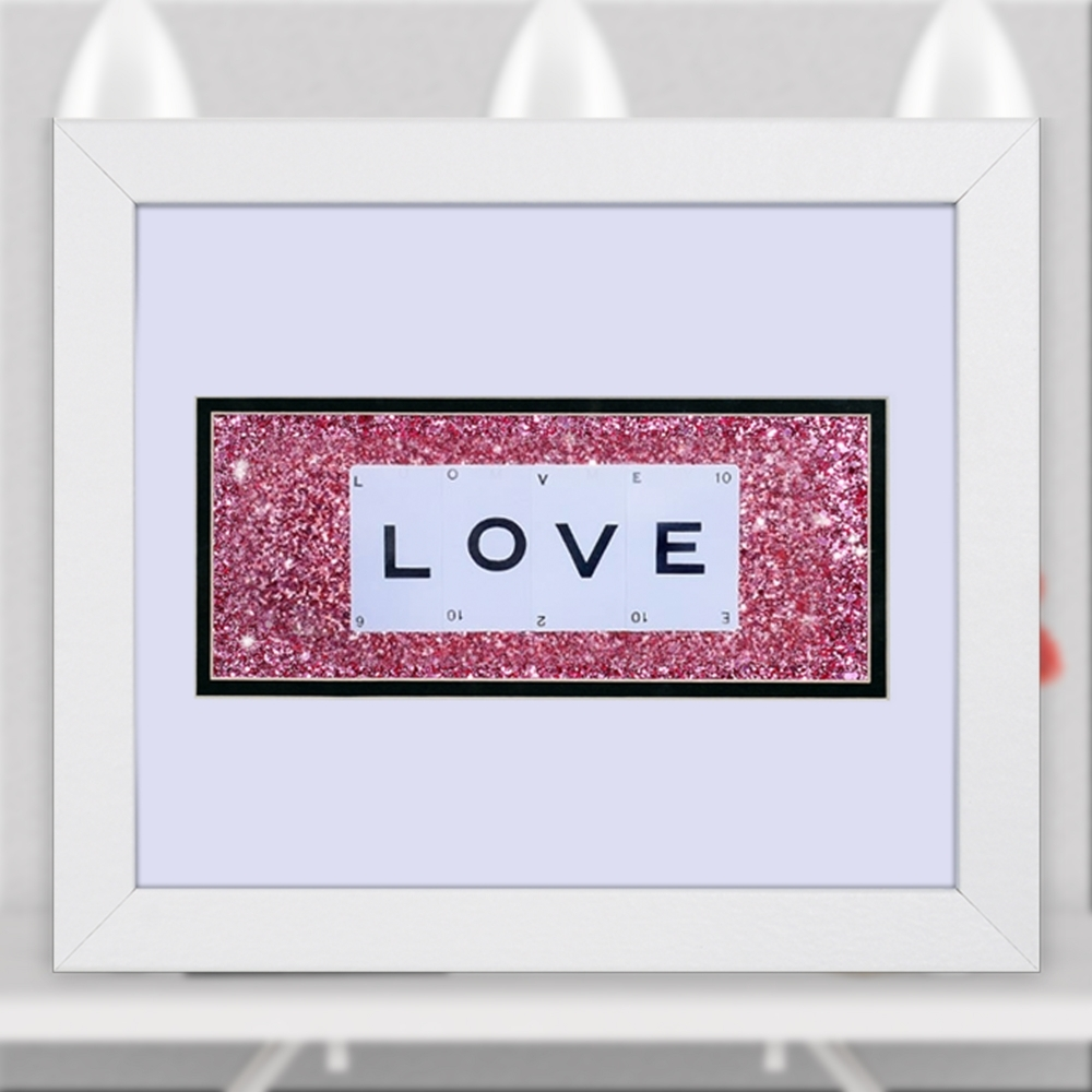 The playing card co love playing card artwork double mounted in love playing card artwork double mounted in frame size 30cm x 25cm jeuxipadfo Choice Image