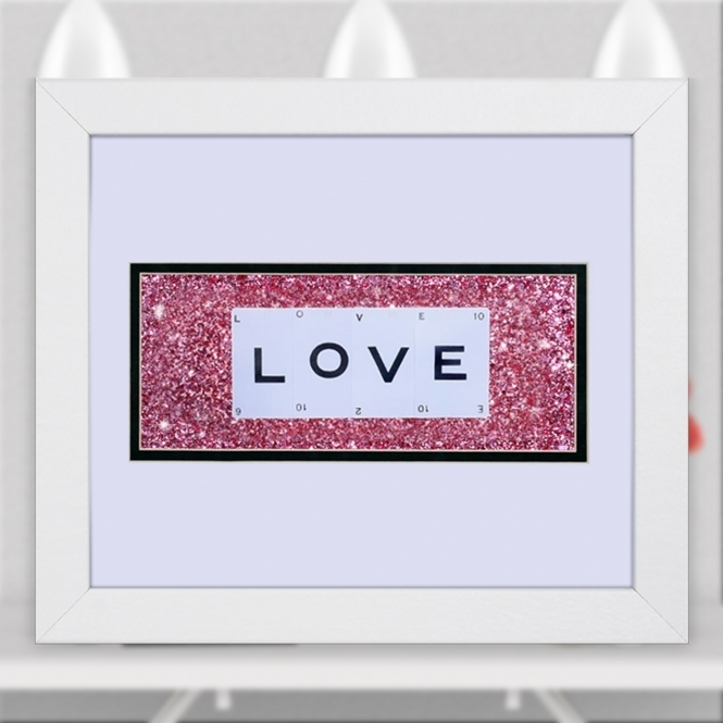 The Playing Card Co. LOVE Playing Card Artwork Double Mounted In Frame Size 30cm x 25cm