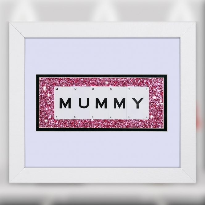The Playing Card Co. Mummy Quote on Glitter Background 30cm x 25cm