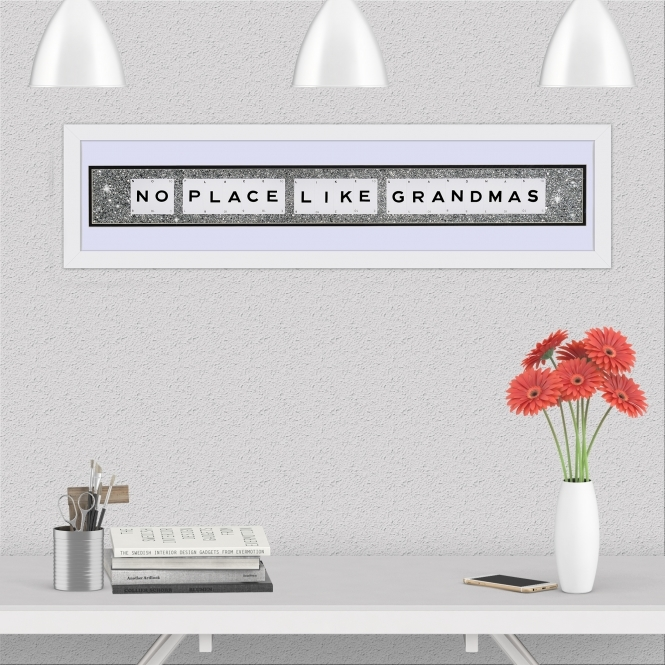 The Playing Card Co. No Place Like Grandmas Quote on Glitter Background 90cm x 20cm