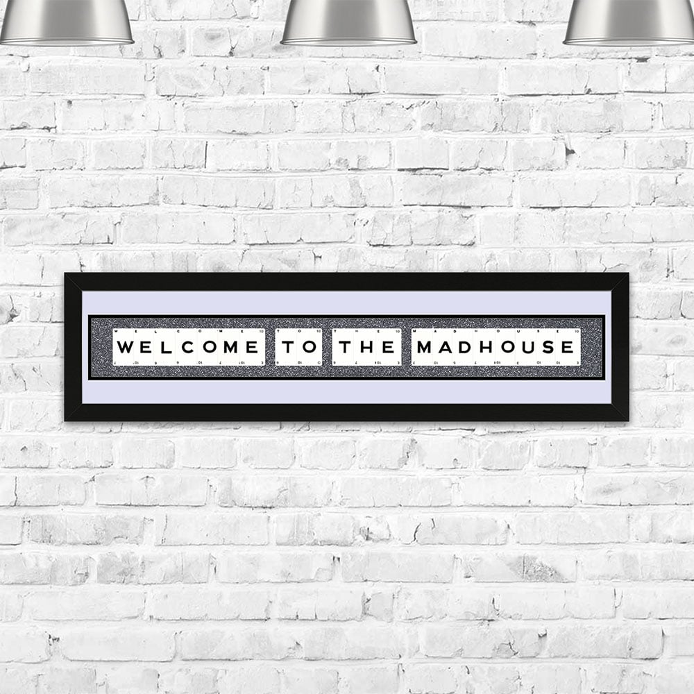 The Playing Card Co. Welcome To The Madhouse Framed Playing Cards