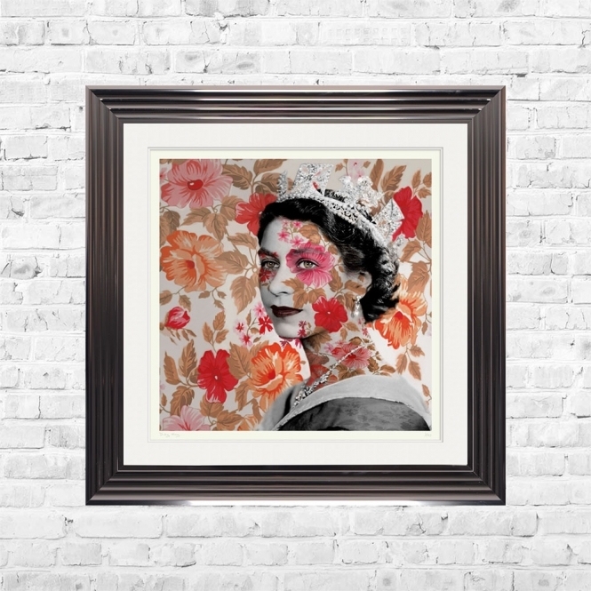 Dirty Hans THE QUEEN Limited Edition Framed Artwork