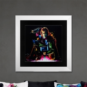Thor Limited Edition Framed Liquid Artwork Signed with Limited Edition Number