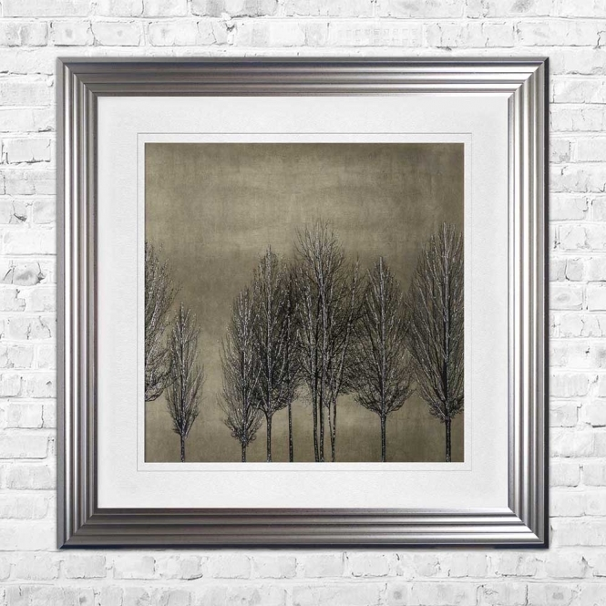 TREE LINE GOLD Wall Art | 90cm x 90cm