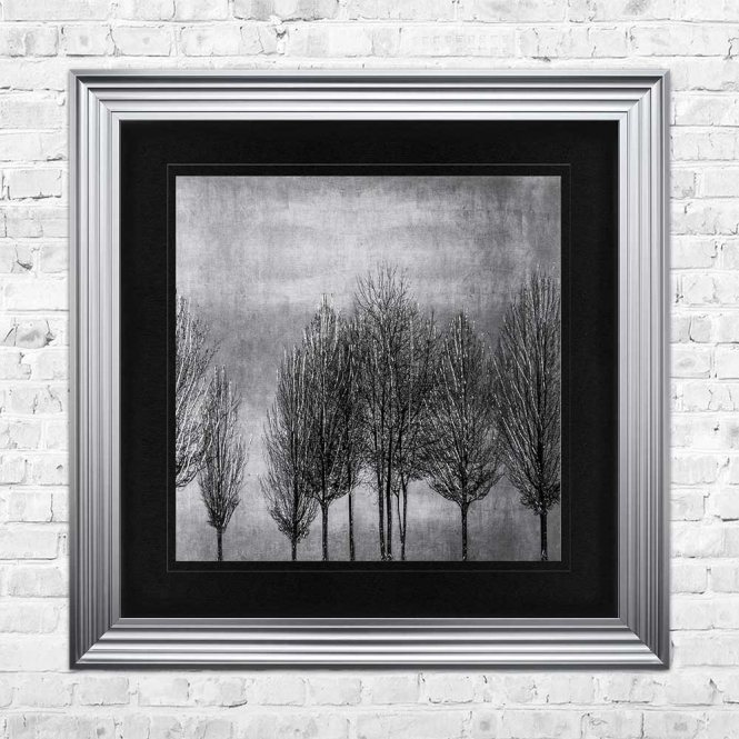 TREE LINE SILVER 2 Wall Art | 90cm x 90cm