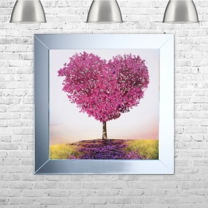 Tree of Love Framed Liquid Artwork and Swarovski Crystals