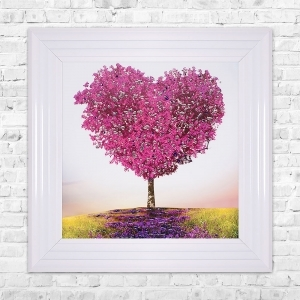 Tree of Love Print Framed Liquid Artwork and Swarovski Crystals
