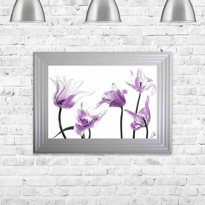 TULIPS FRAMED WALL ART