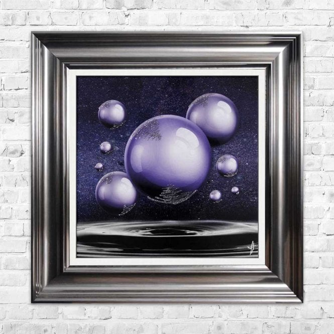 ULTRA VILOET ORBS FRAMED WALL ART