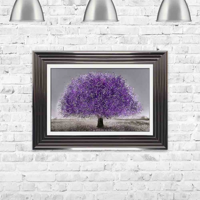 ULTRA VIOLET BLOSSOM TREE FRAMED WALL ART