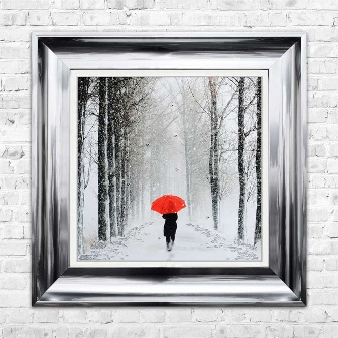 UMBRELLA PATH FRAMED WALL ART