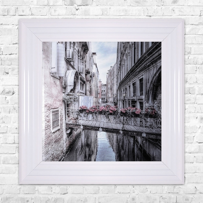 SHH Interiors VENICE 1 Print Framed Liquid Artwork and Swarovski Crystals