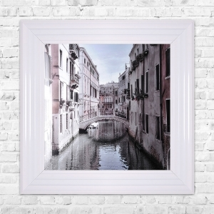 VENICE 2 Print Framed Liquid Artwork and Swarovski Crystals