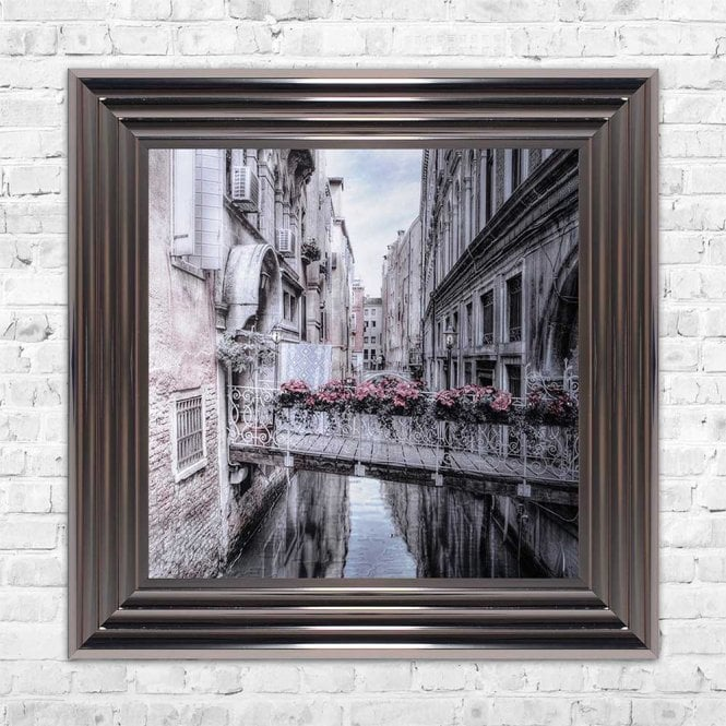 VENICE BRIDGE FRAMED WALL ART
