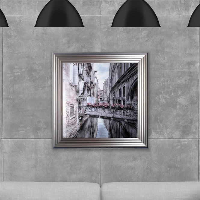 SHH Interiors Venice printed glass Hand Made with Liquid Glass and Swarovski Crystals 75 x 75 cm