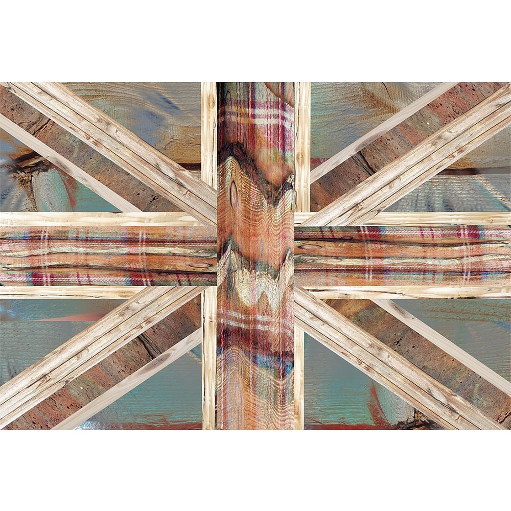 Vintage Shabby Chic Union Jack Flag Feature Wall Wallpaper Mural | 158cm X  232cm Part 33