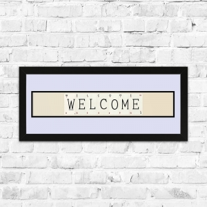 Welcome Framed Playing Cards