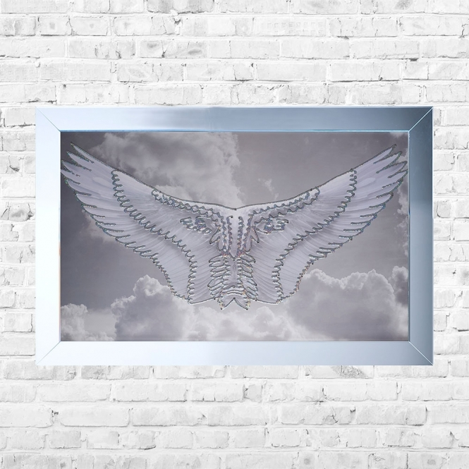 SHH Interiors Wings Framed Liquid Artwork and Swarovski Crystals