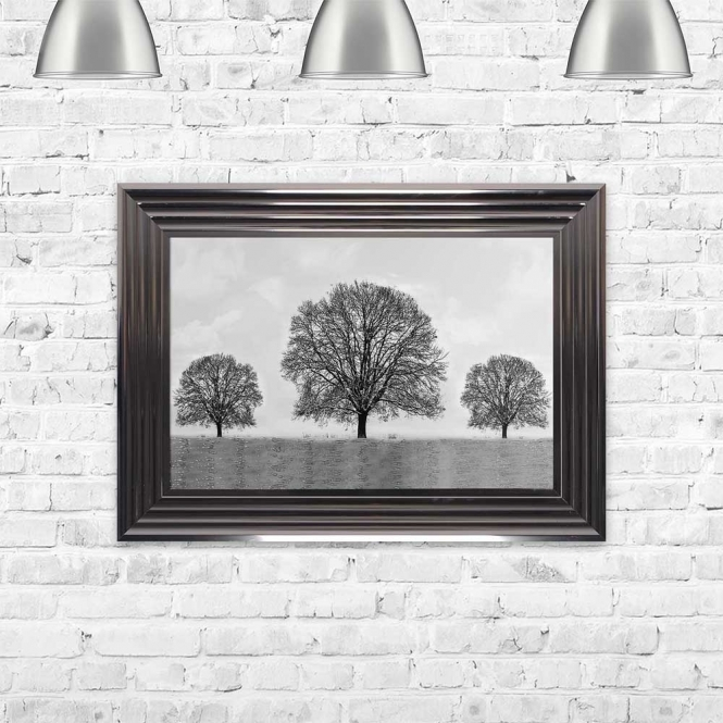WINTER TREES FRAMED WALL ART