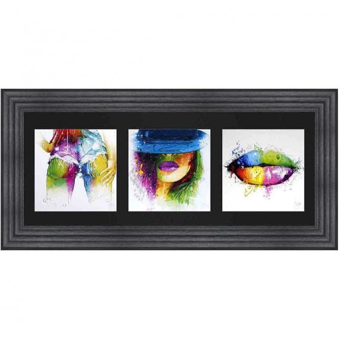 WOMAN TRIPTYCH FRAMED WALL ART